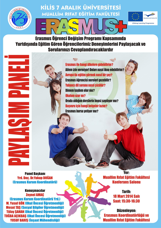 Erasmus+ Deneyim Paylaşımı Afişi